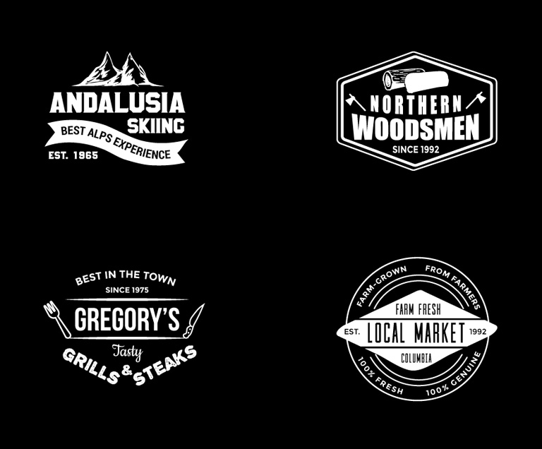 8 Free Vintage Logo Templates - Download Free Stock Logo